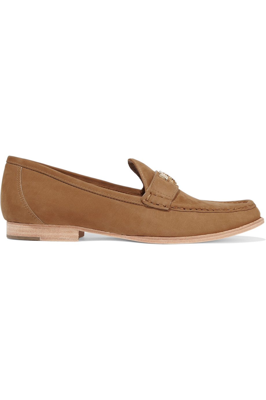 Tory Burch Townsend Nubuck Loafers, Tan, Women's, Size: 7.5
