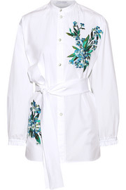 Alex embroidered cotton-poplin shirt