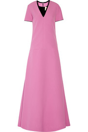 Two-tone crepe maxi dress