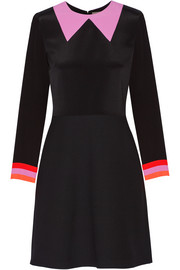 Roksanda Clifton crepe de chine and twill mini dress
