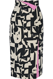 Bahari printed canvas skirt