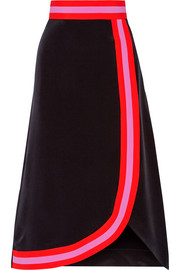 Roksanda Teegan wrap-effect silk-blend crepe de chine skirt