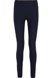Stretch-gabardine leggings-style pants