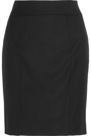 Clara wool-twill pencil skirt
