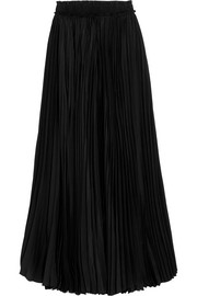 Tod's Pleated silk maxi skirt