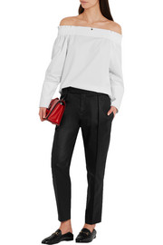 Tod's Off-the-shoulder cotton-poplin top
