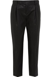 Core coated stretch-cotton twill straight-leg pants