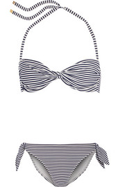 Tory Burch Striped bandeau bikini