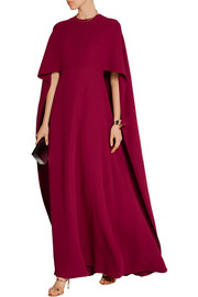 Valentino Cape-back silk-crepe gown