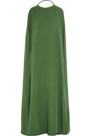 Valentino Cape-front silk-cady gown