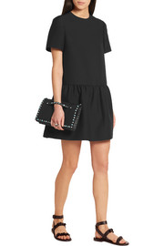 Valentino Drop-waist wool and silk-blend mini dress