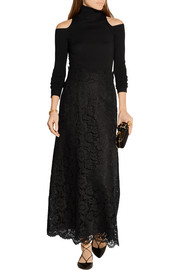 Guipure lace maxi skirt