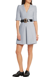 Alexander McQueen Pleated wool-blend mini dress