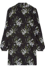 Alexander McQueen Floral-print silk crepe de chine mini dress