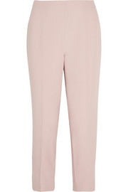 Cropped stretch-crepe tapered pants