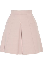 Alexander McQueen Pleated wool-blend mini skirt