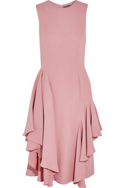 Ruffled silk-crepe dress