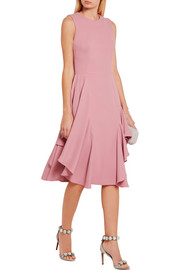 Alexander McQueen Ruffled silk-crepe dress