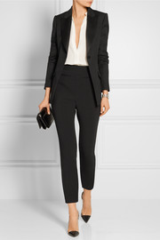 Alexander McQueen Stretch wool and cotton-blend leggings