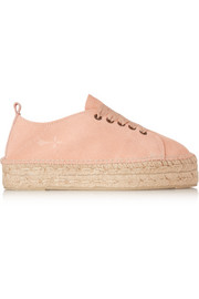 Manebi Hamptons lace-up suede espadrilles