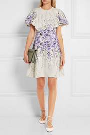 Giambattista Valli Ruffled printed cady mini dress