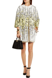 Giambattista Valli Floral-print cotton-jacquard coat