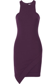 New Claire asymmetric stretch-ponte mini dress