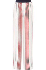Rory striped silk wide-leg pants