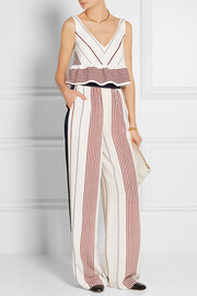 Elizabeth and James Rory striped silk wide-leg pants