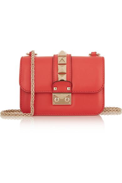 Valentino - Lock Mini Leather Shoulder Bag - Coral