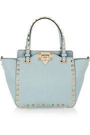 The Rockstud mini leather trapeze bag