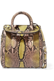 Alexander McQueen Heroine mini python shoulder bag