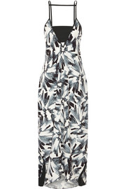 Erica printed crepe de chine dress