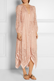 Zimmermann Henna asymmetric embroidered silk dress