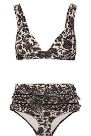 Zimmermann Empire printed triangle bikini