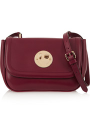 Happy mini leather shoulder bag
