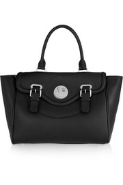 Happy Satchel textured-leather tote