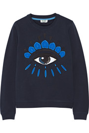 KENZO Icon embroidered cotton sweatshirt