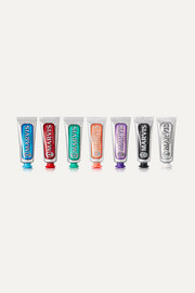 Marvis Flavor Collection Gift Set: Licorice, Mint, Cinnamon, Classic, Ginger, Jasmine and Whitening Toothpaste, 7 x 25ml