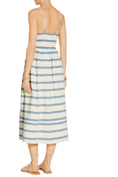 15ea62c8c2b Mara Hoffman. Striped cotton midi dress.  142.50. Play