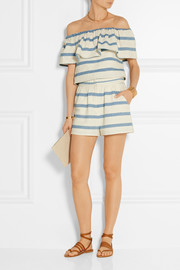 Mara Hoffman Off-the-shoulder striped cotton top