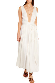 Mara Hoffman Split-front voile maxi dress