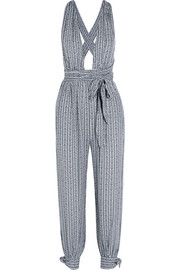 Printed voile jumpsuit