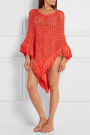 Emilio Pucci Crocheted cotton poncho
