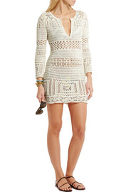 Emilio Pucci Crocheted cotton mini dress
