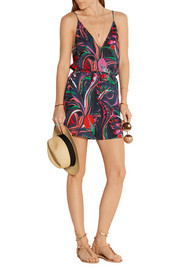 Emilio Pucci Printed cotton-jersey playsuit