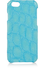 Croc-effect leather iPhone 6 case