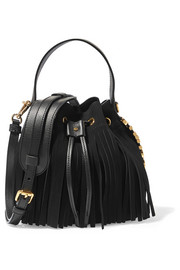 Moschino Fringed suede bucket bag