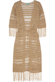 Naomi metallic crocheted robe