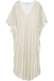 June metallic crocheted kaftan